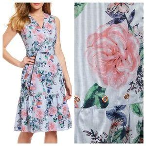 Ivanka Trump 10 Floral Grommet Wrap Dress